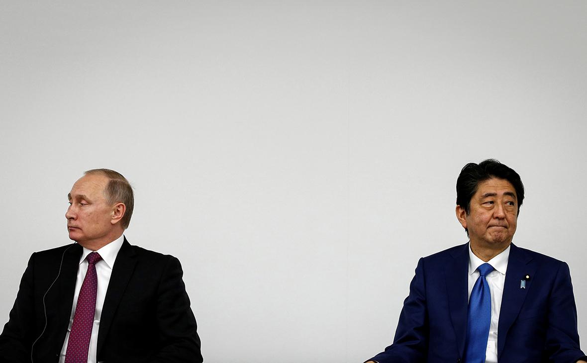 Владимир Путин и Синдзо Абэ (справа)