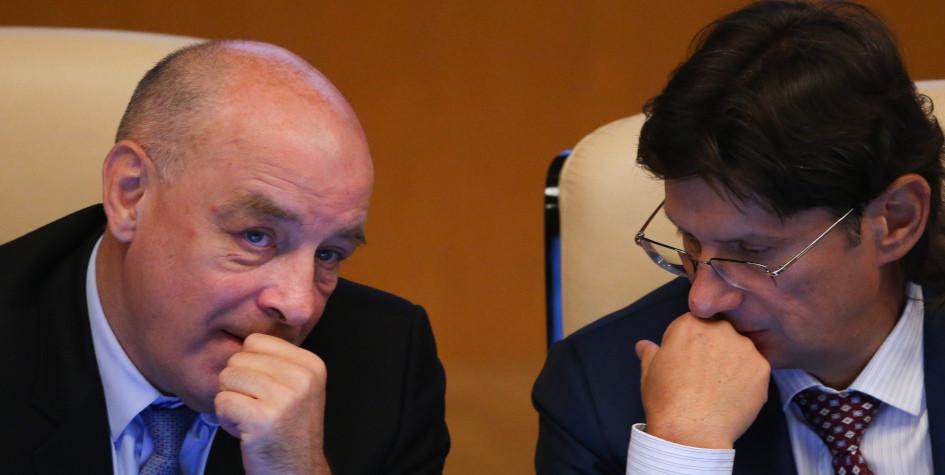 Фото: Cергей Михайлов и Леонид Федун (Фото: ТАСС)