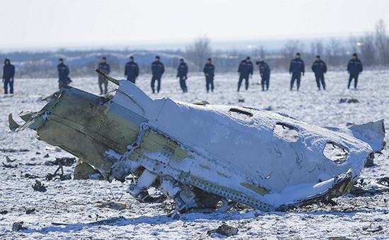 Обломки Boeing 737-800 компании flydubai. 20 марта 2016 года