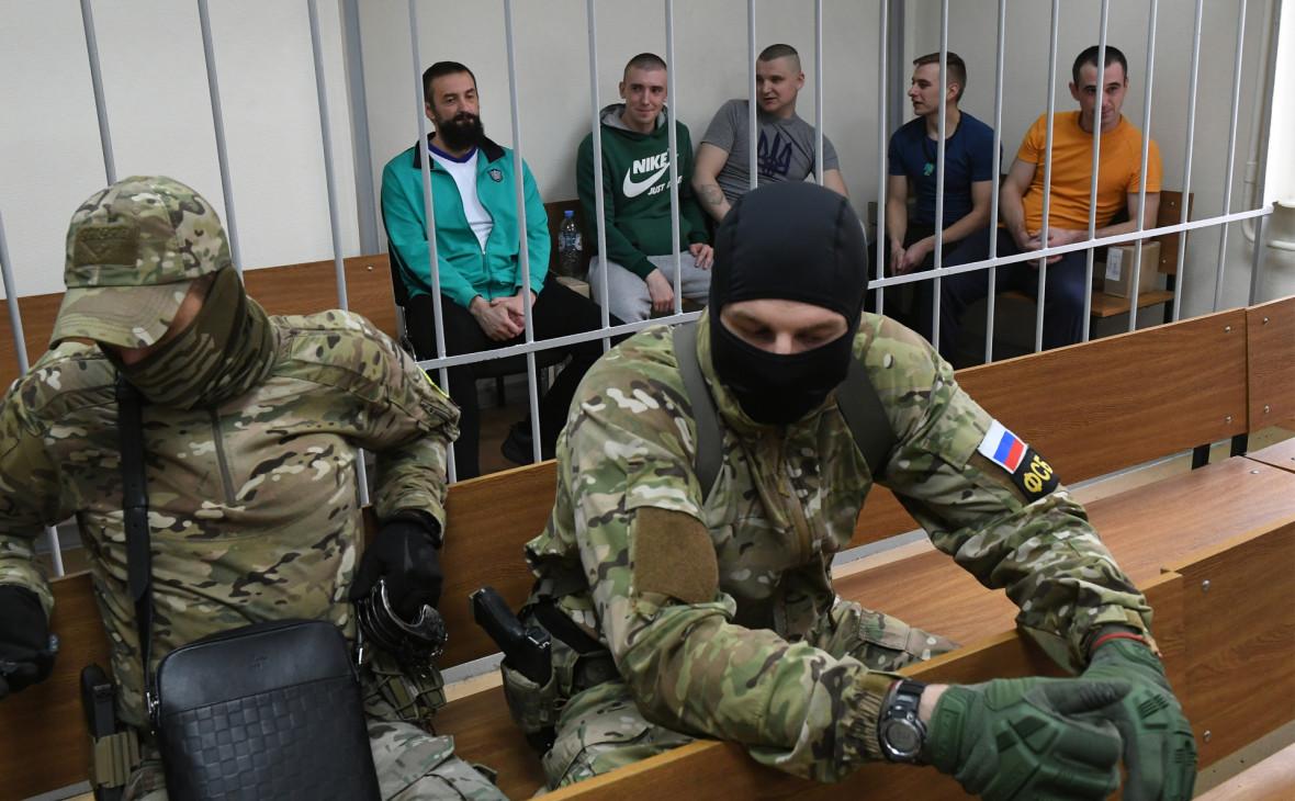 Украинские моряки на заседании Лефортовского суда Москвы