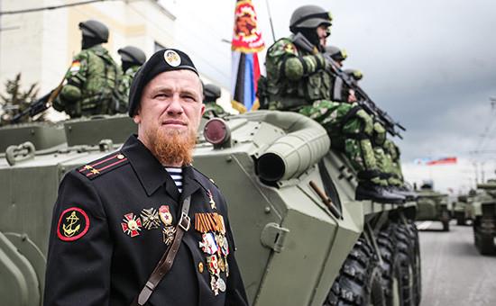 Командир ополчения самопровозглашенной Донецкой народной республики (ДНР) Арсен Павлов с позывным Моторола