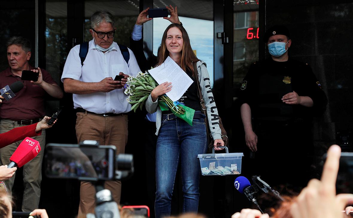 Светлана Прокопьева после судебного заседания в Пскове