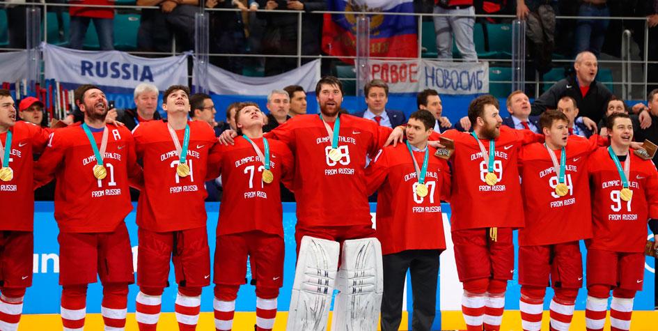 МОК не накажет российских хоккеистов за исполнение гимна