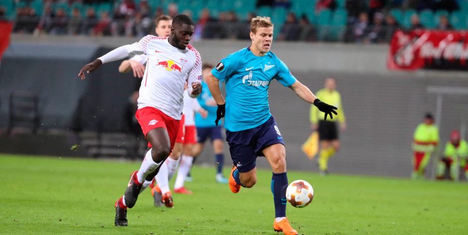 «Зенит» ушел от сухого поражения за 5 минут до конца матча с «Лейпцигом»