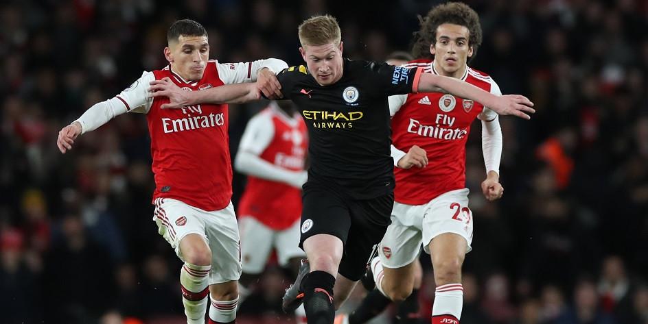 Матч чемпионата Англии по футболу между «Манчестер Сити» и «Арсеналом»