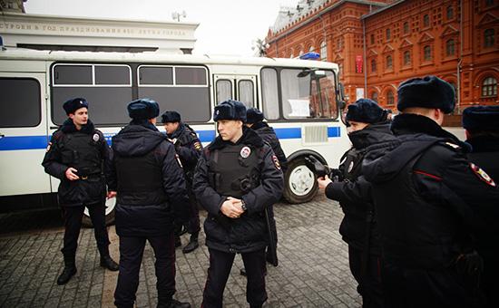 Полиция на Манежной площади