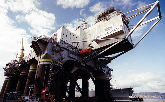 Морская платформа длязапуска космических аппаратов Sea Launch
