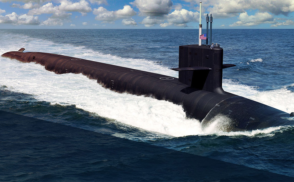 Иллюстрация подводной лодки США класса «Колумбия»