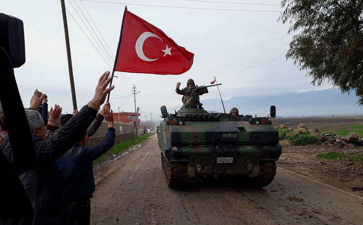 Встреча турецких военных в приграничной деревне в провинции Хатай. 21 января 2018 года