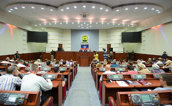 Заседание парламента ДНР. Архивное фото.