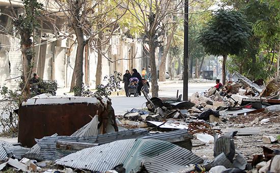 Последствия бомбардировок города Алеппо. 14 ноября 2016 года
