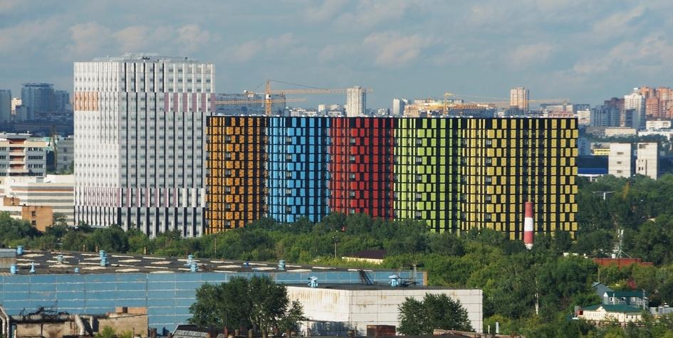 Вид на территорию бывшего завода ЗИЛ