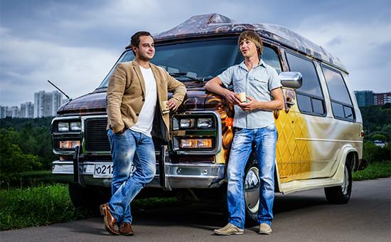 Основатели кофейни-фургона«Мор-Фе»Роман Магденко(справа)иНикита Суворов