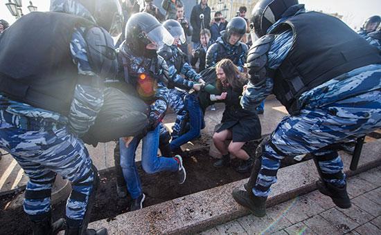 Антикоррупционный митинг в Москве. 26 марта 2017 года