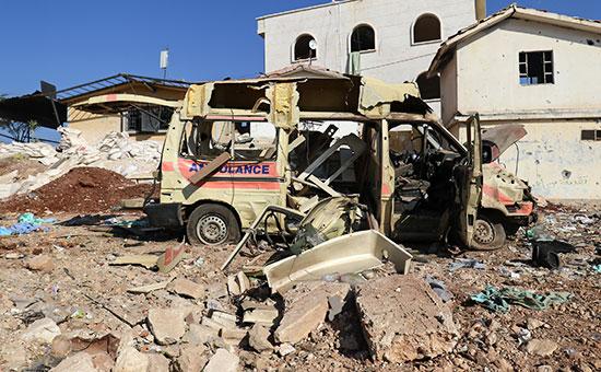 Последствия авиаудара квостоку отАлеппо, Сирия. Ноябрь 2016 года