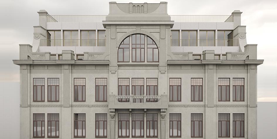 Планируемый проект реконструкции фасада