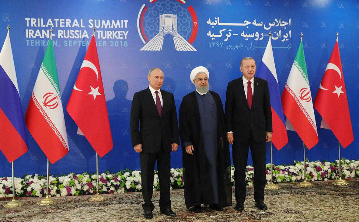 Путин, Эрдоган и Роухани призвали к разрешению кризиса в сирийском Идлибе