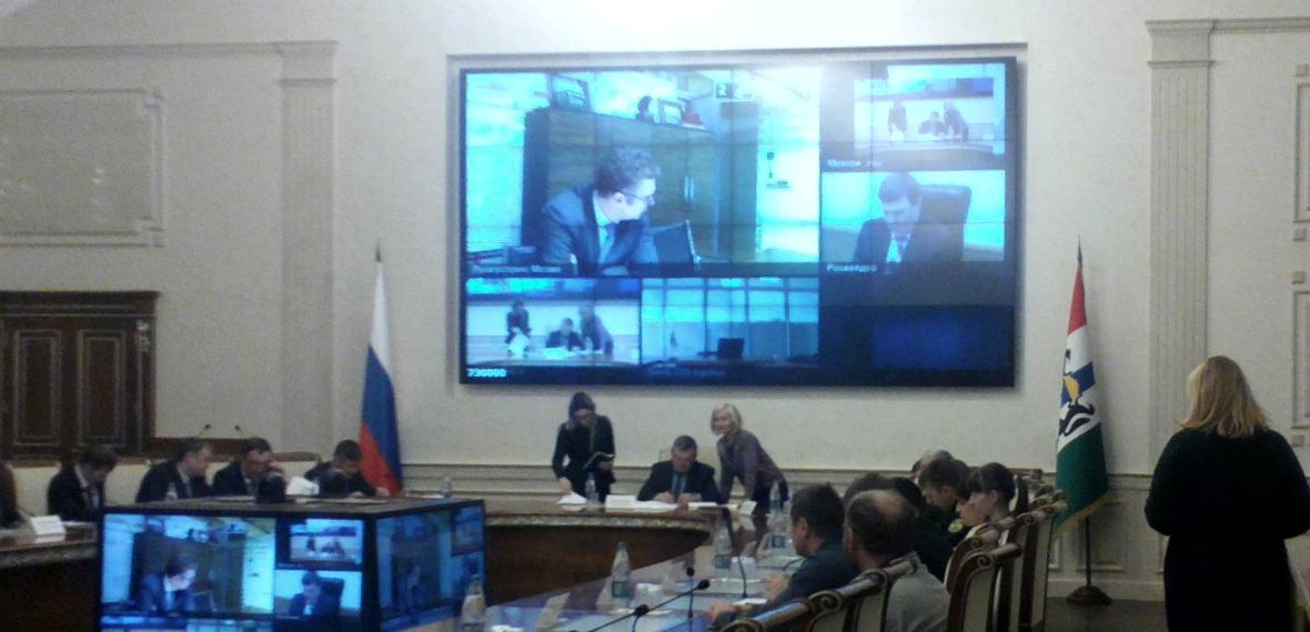 Заседание оперативного штаба по мониторингу и регулированию рынка зерна по вопросам перевозки зерна из Новосибирской области