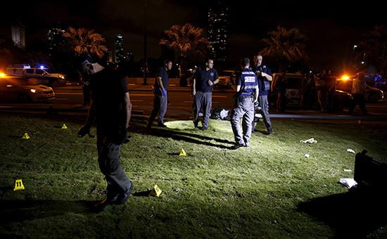 Израильская полиция на месте происшествия