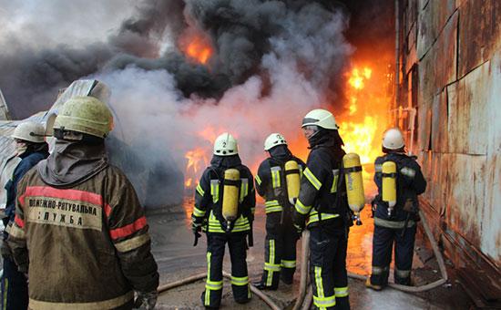 Украинские пожарные. Февраль 2017 года