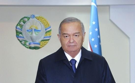 Президент Узбекистана Ислам Каримов на избирательном участке