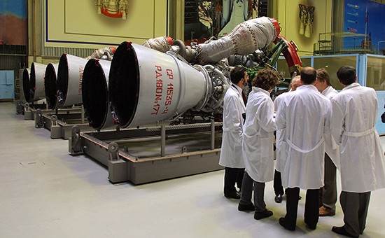 НПО «Энергомаш». Партия ракетных двигателей РД-180, предназначенных для экспорта в США. Архивное фото