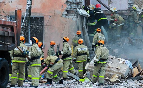 Поисково-спасательная операция наместе взрыва
