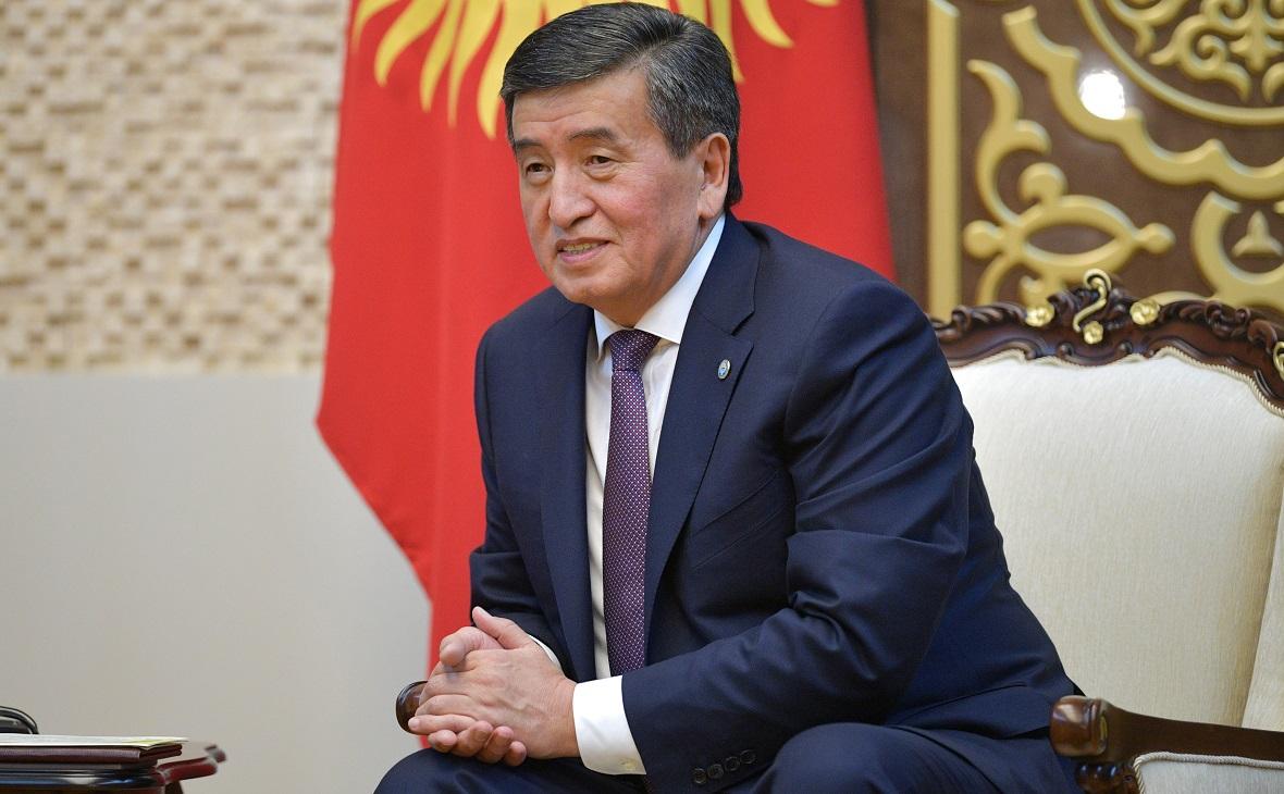 Объявивший об отставке президент Киргизии Сооронбай Жээнбеков