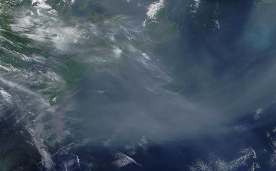Часть Атлантического океана. Снимок из космоса