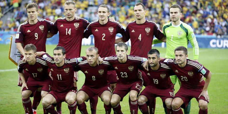 Сборная России перед матчем с Алжиром на чемпионате мира по футболу 2014 года