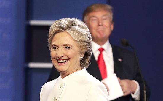 Дебаты междукандидатами впрезиденты США—Хиллари Клинтон отдемократов иДональдом Трампом отреспубликанцев. Лас-Вегас, 19 октября 2016 года