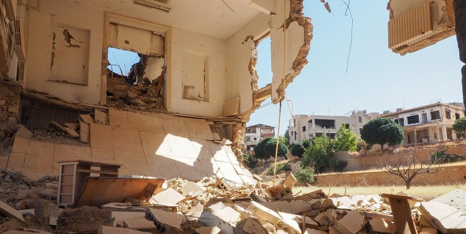 Разрушенные во время войны здания в Сирии