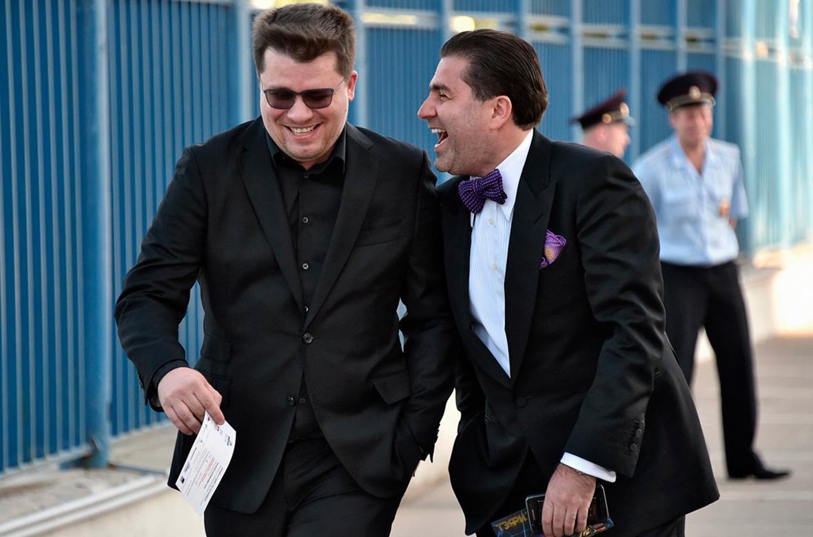 Резидент Comedy Club Гарик Харламов (слева) и генеральный продюсер компании Comedy Club Production Артур Джанибекян