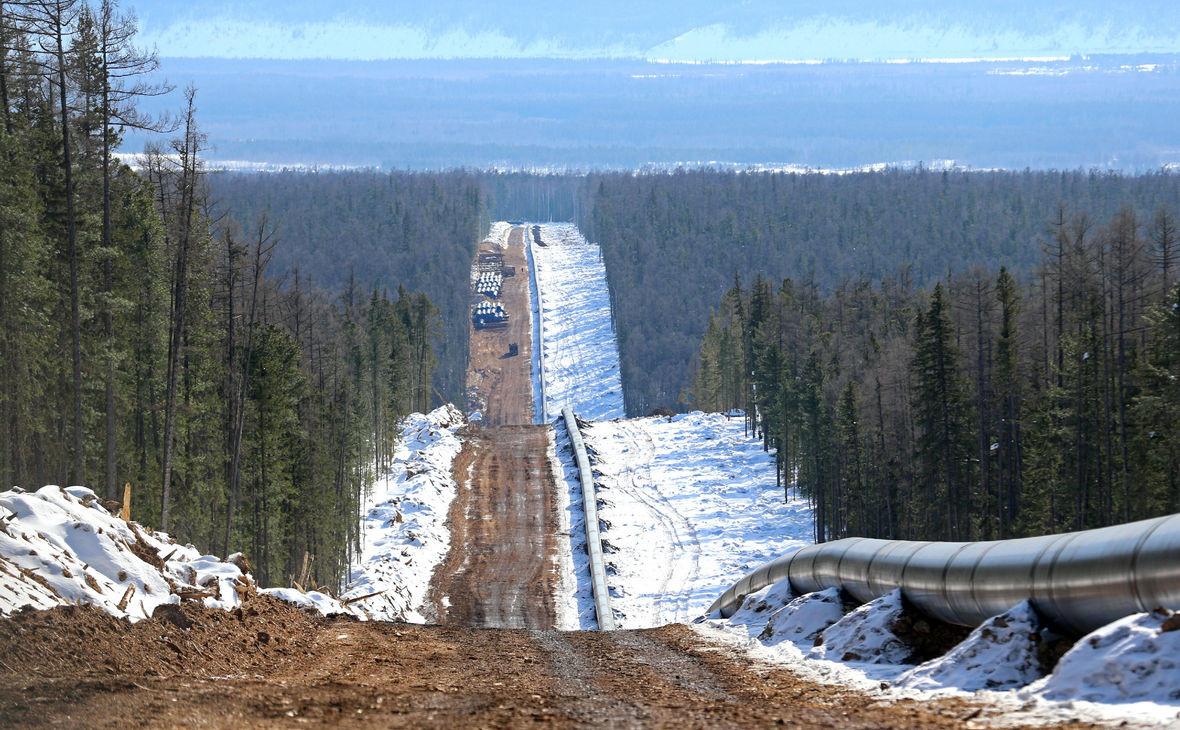 Трасса газопровода «Сила Сибири»