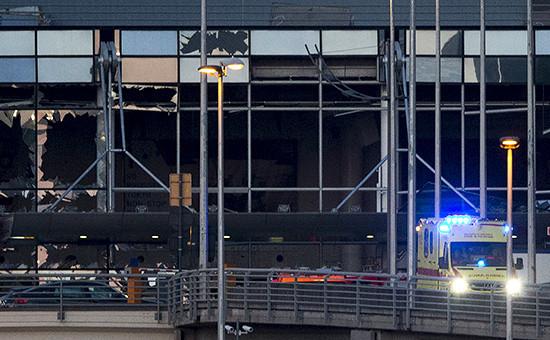 Здание аэропорта в Брюсселе после теракта
