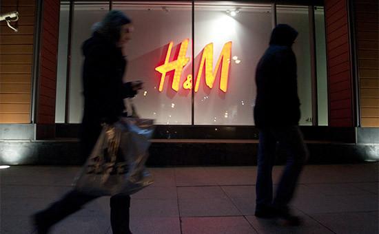 Витрина магазина H&M в Москве