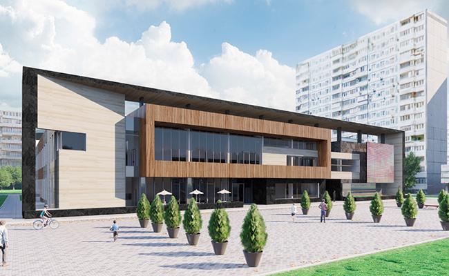 Визуализация будущего досугового центра вСтрогине