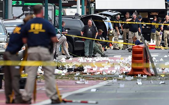 На месте взрыва на Манхэттене вНью-Йорке