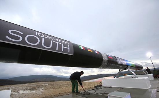 Подготовка кторжественной церемонии сварки первого звена «Южного потока». Анапа, декабрь 2012 г.