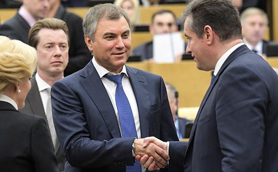 СпикерГосударственной думы РоссииВячеслав Володин (в центре)