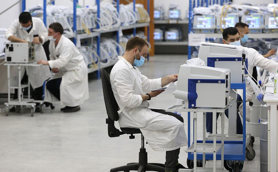 Линия прикатки аппаратов искусственной вентиляции легких (ИВЛ) на АО «Уральский приборостроительный завод»