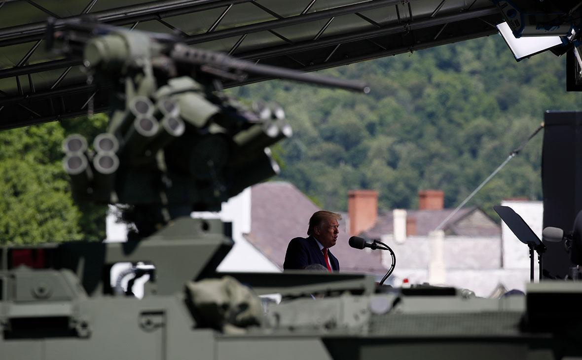 Дональд Трамп во время выступления в военной академии Уэст-Пойнт
