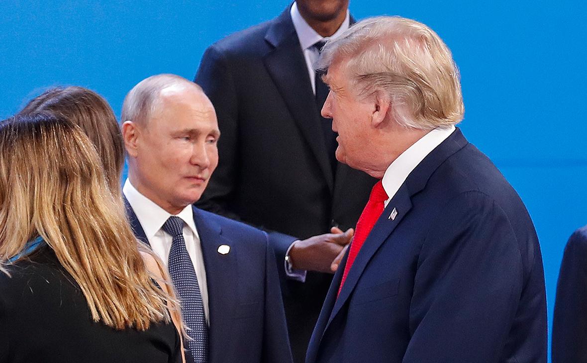 Владимир Путин иДональдТрамп (слева направо)