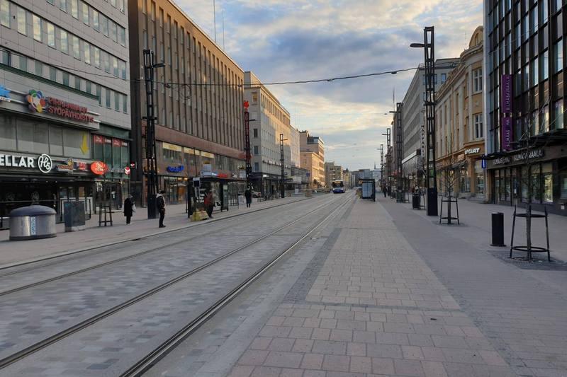 Финский город Тампере в период пандемии
