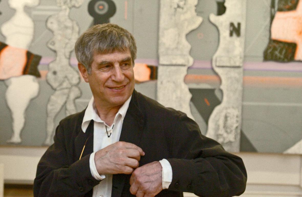 Владимир Янкилевскийна церемонии открытия своей ретроспективой выставки в Русском музее. 12 июля 2007 года