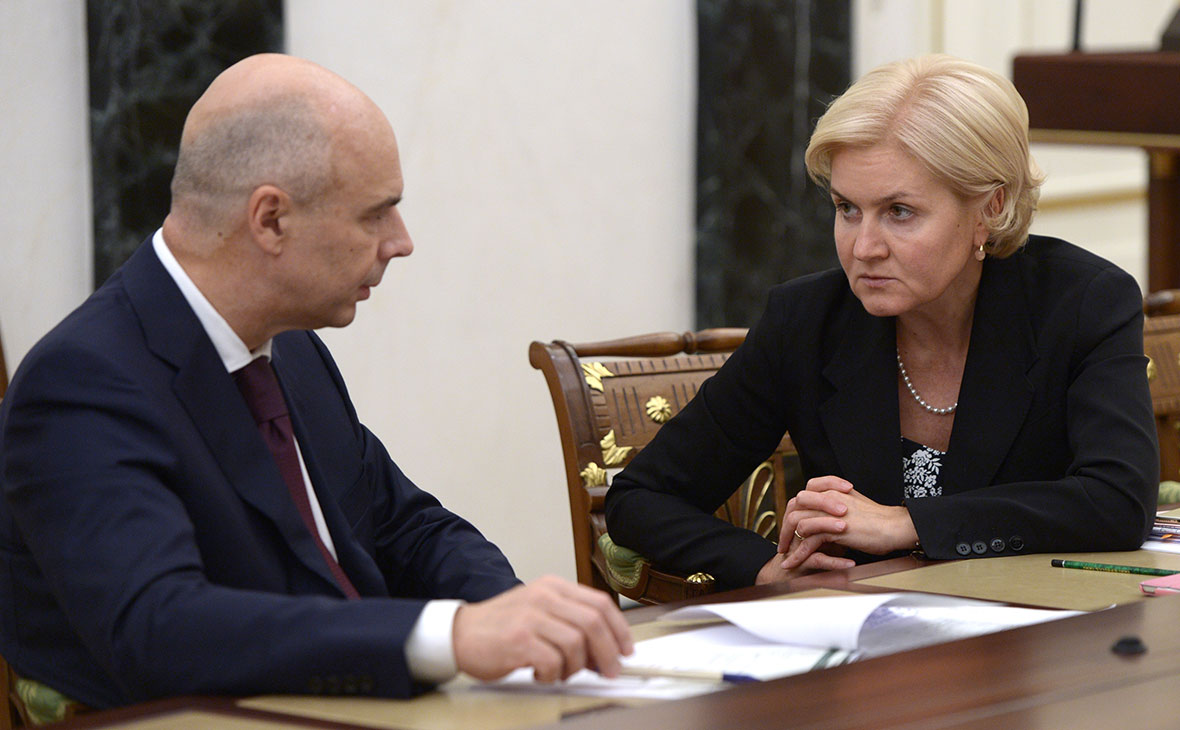 Антон Силуанов и Ольга Голодец