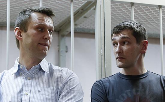 Алексей (слева) и Олег Навальные