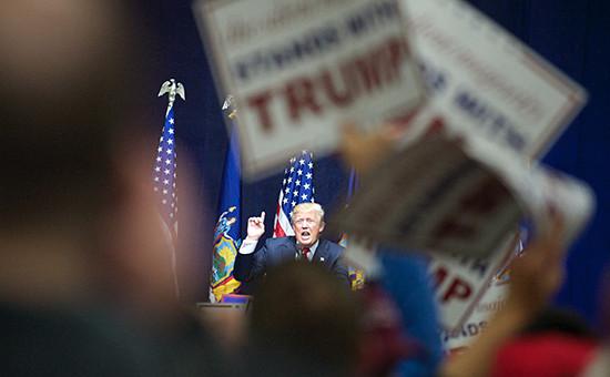 Кандидат напост президента США отРеспубликанской партии Дональд Трамп