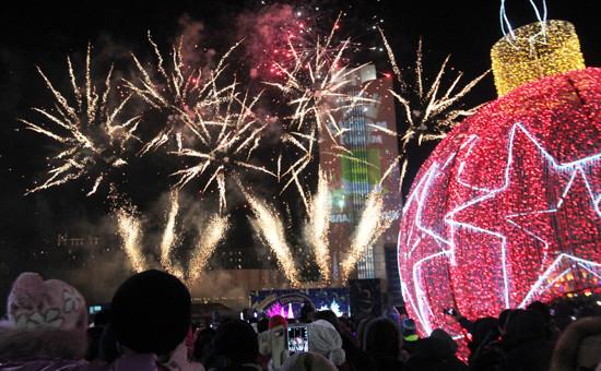 Празднование Нового года во Владивостоке
