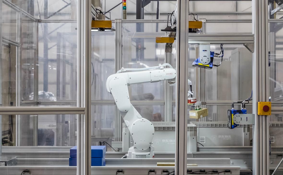 Робот на складе компании JD в Шанхае